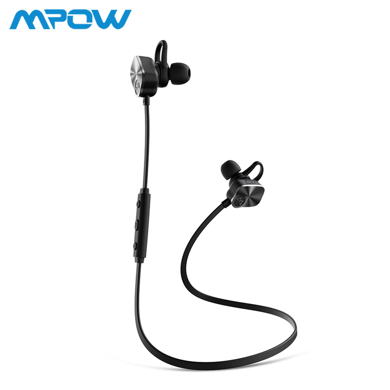 Mpow MBH29 Wireless headphones Bluetooth 4.1 In-Ear Headset with Remote control & Microphone Stereo Sports Earphone For Phones remax metal headphones base driven high performance stereo earphone with microphone and in line control rm 305m