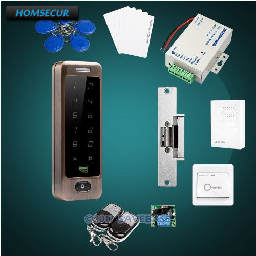 HOMSECUR DIY FRID Access Control System For Easy Operation with Waterproof Electric NO Strike Lock