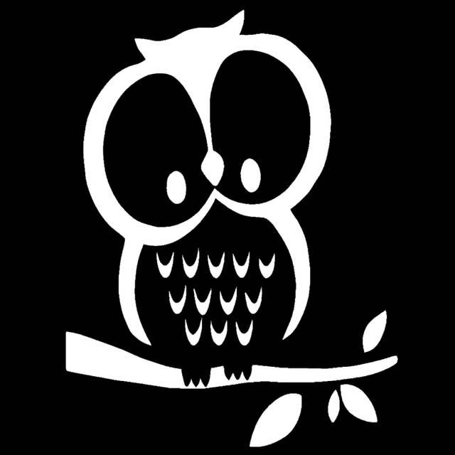Online Shop Hotmeini Cute Cartoon Big Eyes Owl In Tree Funny Car