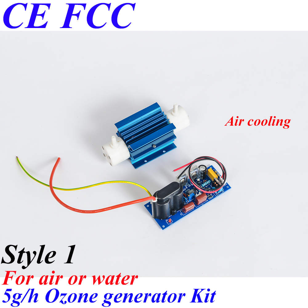 Pinuslongaeva CE EMC LVD FCC Factory outlet 5g/h Quartz tube type ozone generator Kit household ozone air water deodorization pinuslongaeva ce emc lvd fcc factory outlet 10g h quartz tube type ozone generator kit high voltage discharge type ozone kits