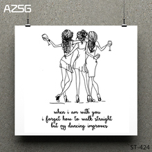 AZSG  Dancing Fashion Girl Clear Stamps/Seals For DIY Scrapbooking/Card Making/Album Decorative Silicone Stamp Crafts