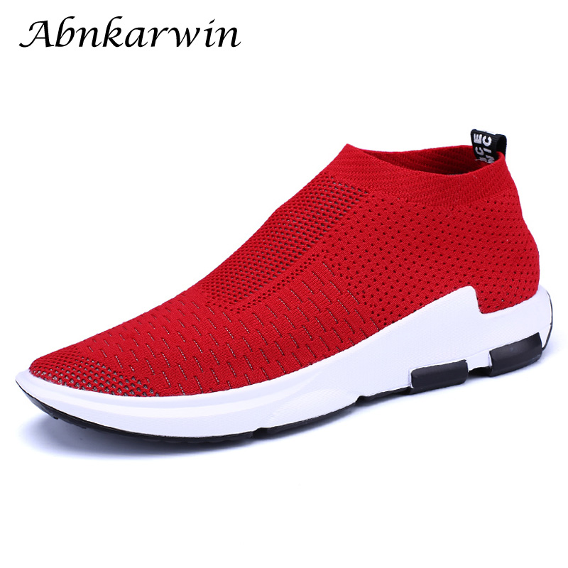Sport Shoes Men Running For Sock Sneaker Women Black Red Breathable Summer Sneakers Gym Mens Trainers Footwear Big Size 47 48