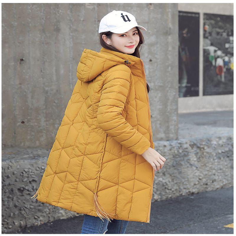 women 2018 fashion Winter Jacket Women manteau femme hiver Cotton Coat female jacket Hooded Slim long   Parkas   woman Hooded jacket