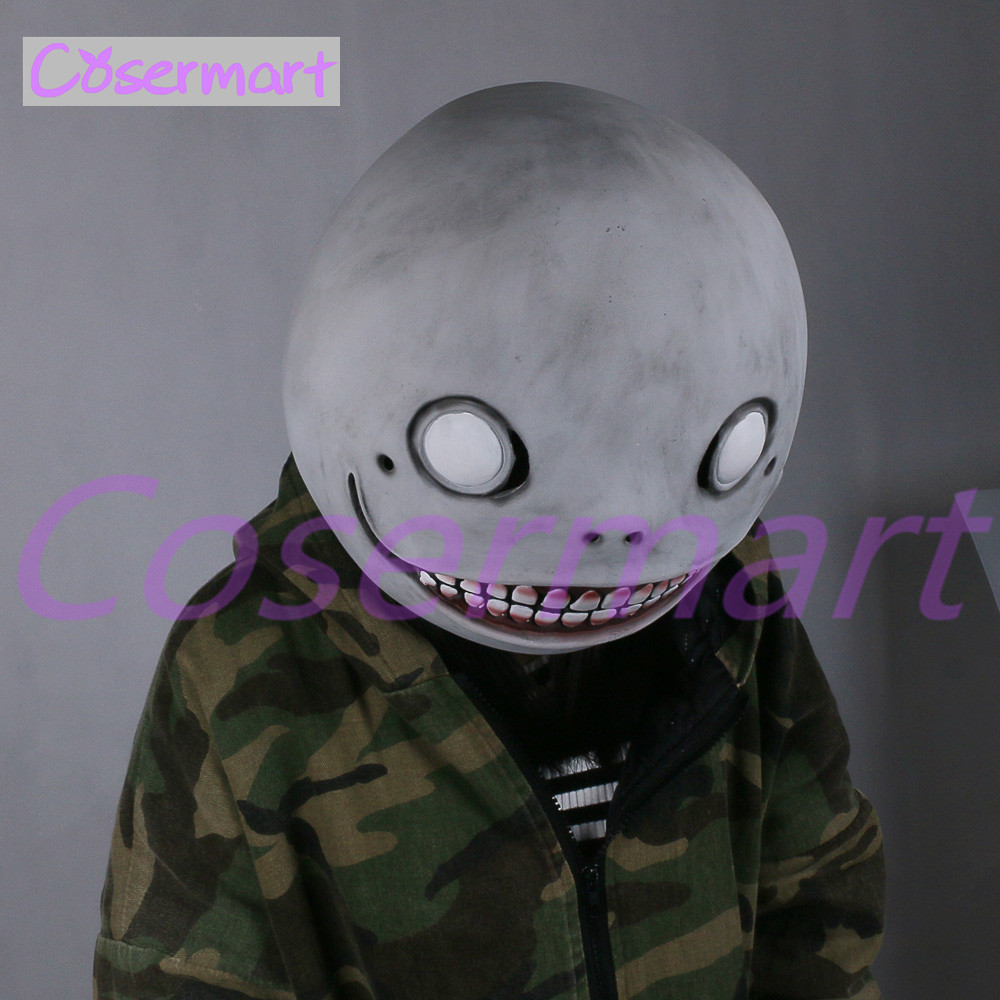 Cos Hot Game NieR Automata Masks Cosplay Emil Mask Helmet 11 Latex Halloween Party (4)