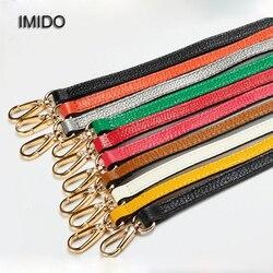 IMIDO 55 سنتيمتر حقيبة جلدية أصلية حزام المرأة استبدال الأشرطة الكتف حزام حقائب اكسسوارات أجزاء للحقائب الأخضر الأحمر STP018