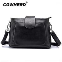Cowherd Fashion Women Shoulder Bag Female Double Zipper Crossbody Bag High Quality 100 Top Layer Cow