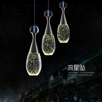 Glass Crystal Pendant Lights Living Room Restaurant Dining Room Kitchen Hanging Lamp Modern Home Decor Water drop Light Fixtures