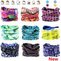 791-850 neuheit Multi-farbe Nahtlose Bandanas Headwear Schal Magie Stirnband Gesicht Maske Wrap Fahrrad Kopftuch Frauen Schal