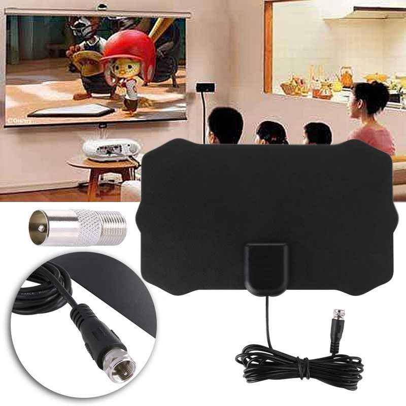 50 Miles High Gain Indoor Freeview TV antena Digital HD TV radius Aerial Surf HDTV booster VHF UHF radio Antenna
