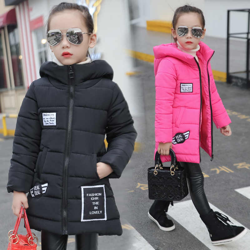 child wadded jacket kids outerwear cotton-padded thicken children clothing autum winter jackets for girls 10 years coat clothes