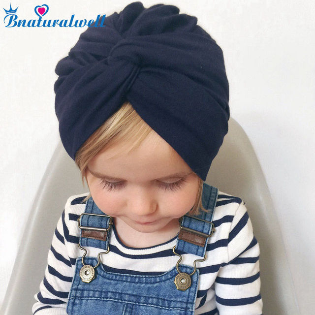 Bnaturalwell Baby Girl Turban hat Children Top Knot Beanie Hair accessories  Party accessories Newborn Infant cotton hat H121S 7f3999a51434