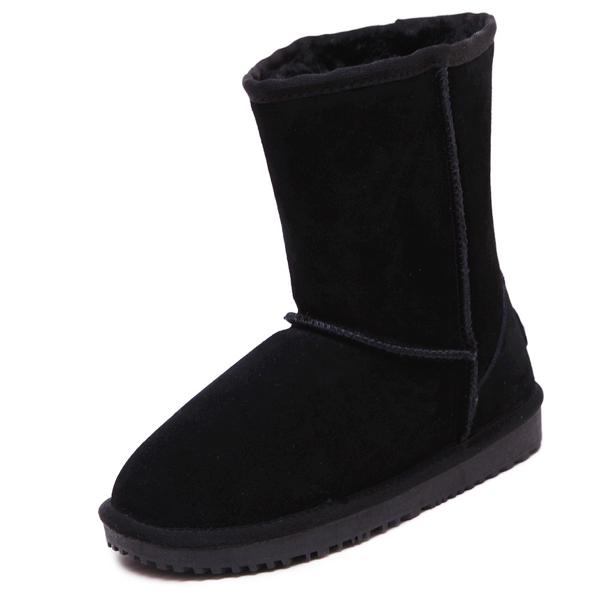 Winter Australia snow boots shoes woman and men causal flat warm sheepskin genuine leather 100% wool ankle boots high quality new australia winter shoes women s snow boots shoes woman sheepskin genuine leather flat ankle boots bowtie 100% wool size 35 44