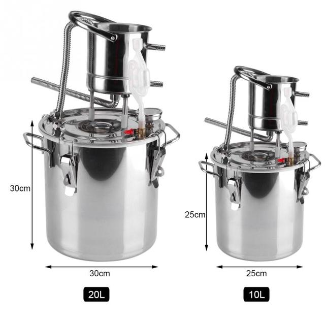 Stainless Steel Boiler Alcohol Wine Making Kit Device Home Brew Kit ...