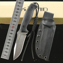 Fox 58HRC Fixed Knife Stone Wash D2 Blade G10 Handle Outdoor Survival Camping Hunting Knife Tactical Utility Multitool Qaulity A