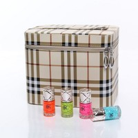 Professional Makeup Women Large Capacity Organizer Fashion Toiletry Cosmetic Bag Multilayer Storage Box Portable Suitcase