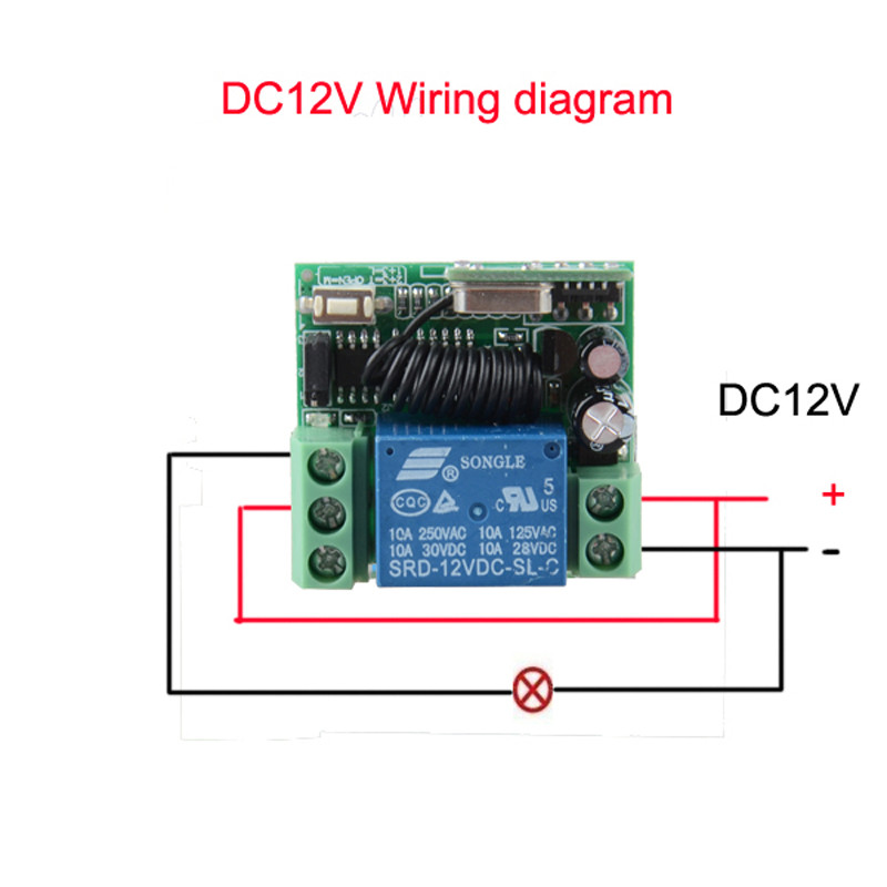 Online Shop Door Access Control System 12v Dc 1ch Wireless Remote Switch 31543392 Rf Light Receiver 5 Transmitter Aliexpress: Remote Control 12v Dc Switch Wiring Diagram At Eklablog.co