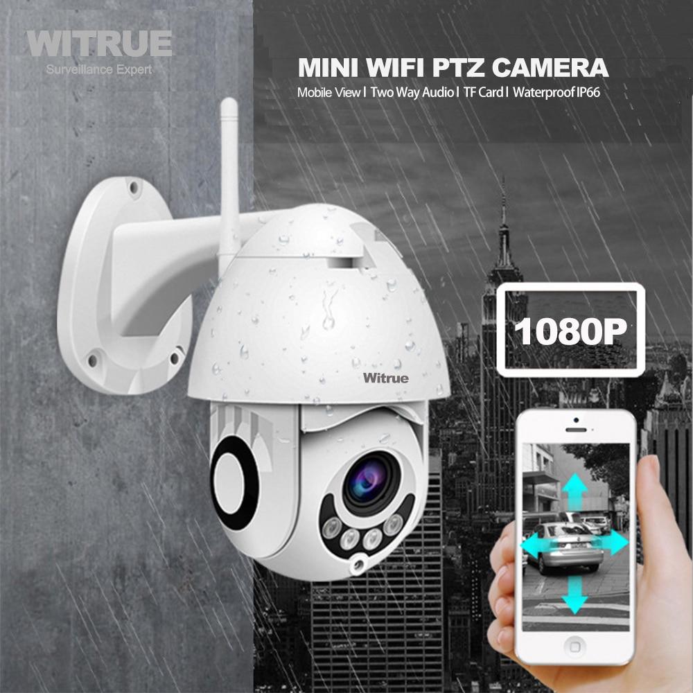 PTZ IP Camera WiFi 1080P Wireless Outdoor Dome IR Night Vision Two Way Audio TF Card