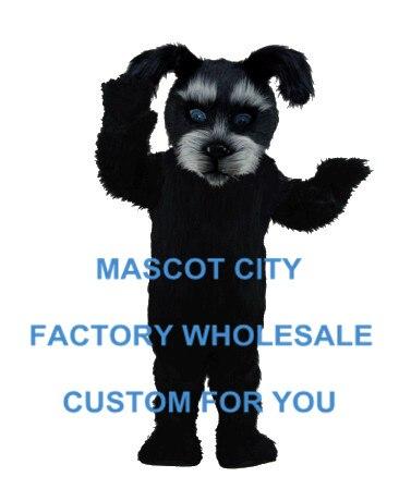 Costume de mascotte de chien écossais noir taille adulte personnage de dessin animé tenue de mascotte Costume de fantaisie Costume de carnaval SW744
