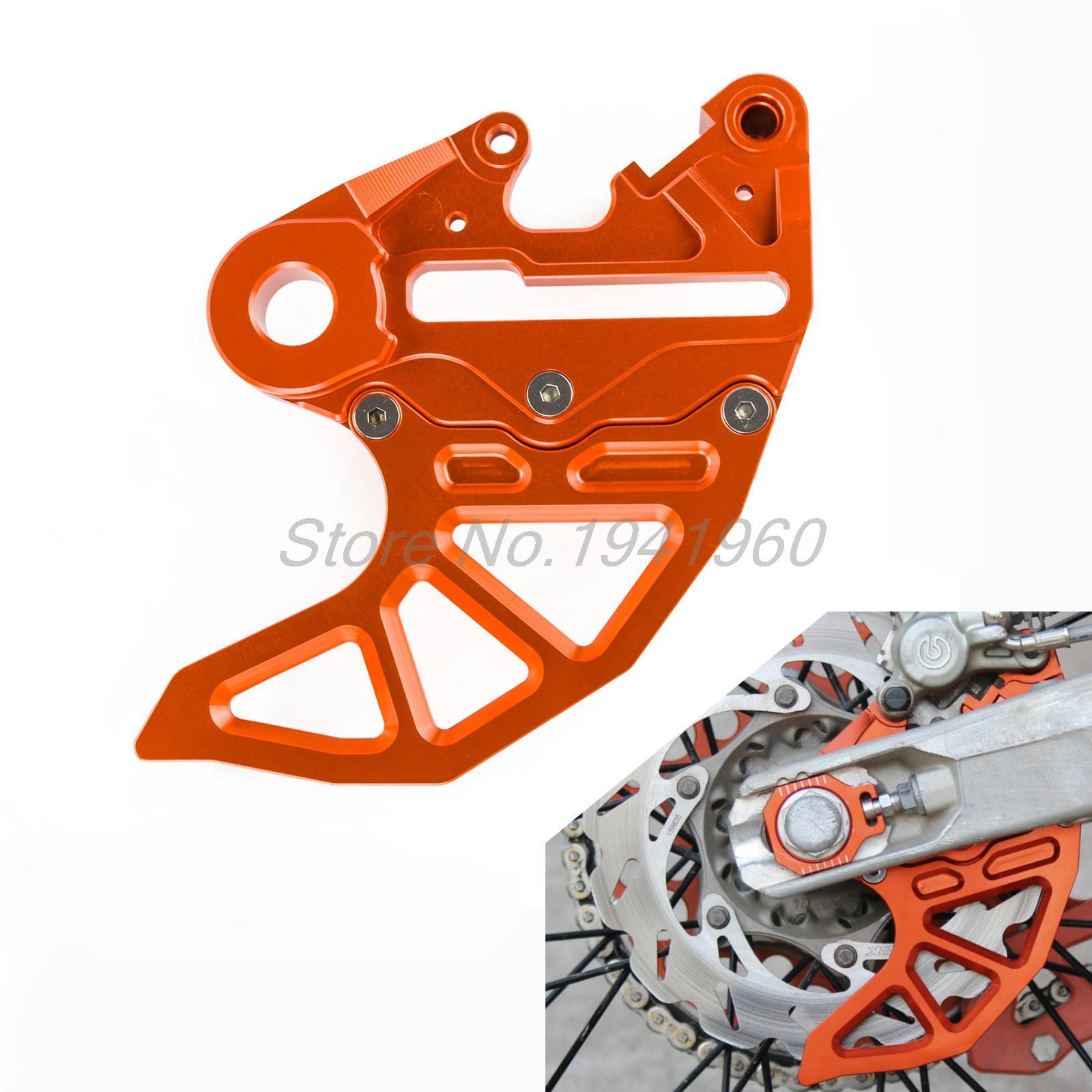 Achterremschijfrotorbeschermkap met remklauwsteun voor KTM 125 150 250 350 450 SX SXF EXC EXCF XC Husqvarna Husaberg TE FE