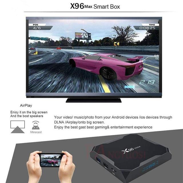X96 Max Android 8.1 Smart TV BOX Amlogic S905X2 LPDDR4 Quad Core 4GB 64GB 2.4G&5GHz Wifi BT 1000M H.265 4K Set top box X96Max 2