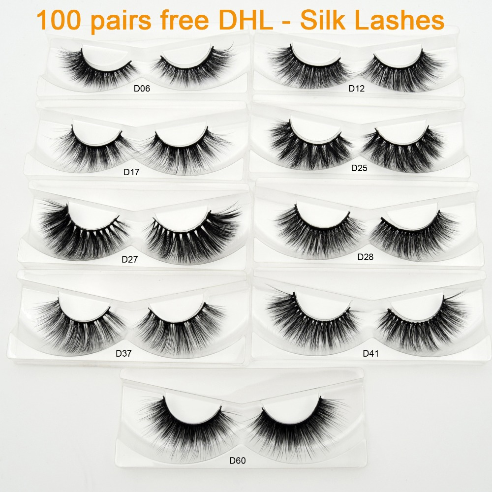 Freies DHL 100 Pairs Großhandel Wimpern Reusable Faux Nerz Wimpern Hand Made Falsche Wimpern Make Up Wimpern Extensions Faux Cils-in Falsche Wimpern aus Haar & Kosmetik bei AliExpress - 11.11_Doppel-11Tag der Singles 1