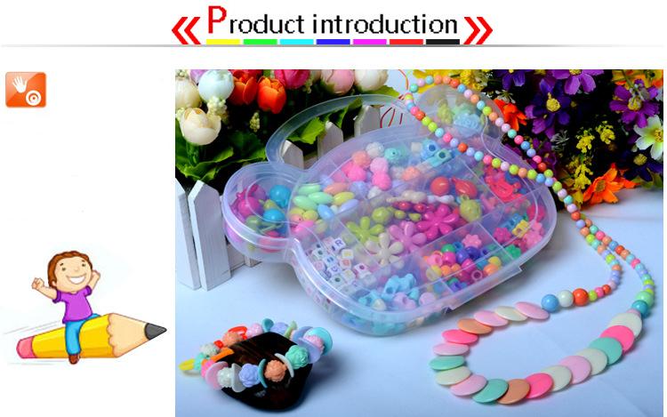 Children DIY Plastic Acrylic Bead Kit Girl Toys DIY Beaded Handmade Bracelet Amblyopia Training Color Puzzle Early Education Toy (15)