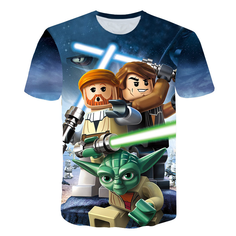 Star Wars Characters 3D T-shirt Print Casual Male Female T shirt Superman Star Wars Short Sleeve Tops&Tees Funny Hip Hop tshirt