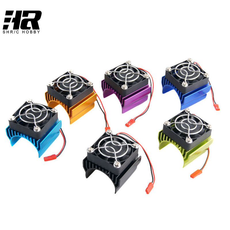Free shipping RC Car 1:10 Tram 540 550 3650 Motor With Fans Radiator Heat Sink For 3650 3660 3670 3674 540 550 Size Motor