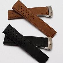 Натуральной кожи ремешок для часов для бренд часов 22 мм застежка высокое качество из нержавеющей стали роскошных аксессуаров ремешок черного браун