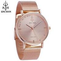 KING HOON Women S Watch Ultra Thin Stainless Steel Quartz Watch Lady Casual Hours Bracelet Watches