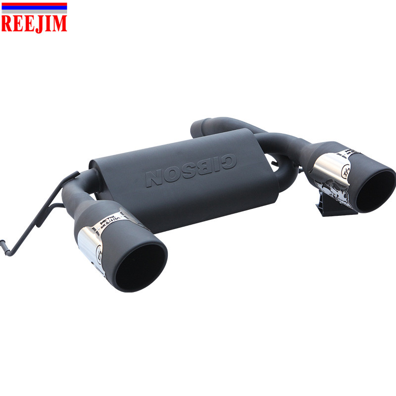 Hot Sale Matte Black Dual Cat Back Exhaust Muffler System For 2007