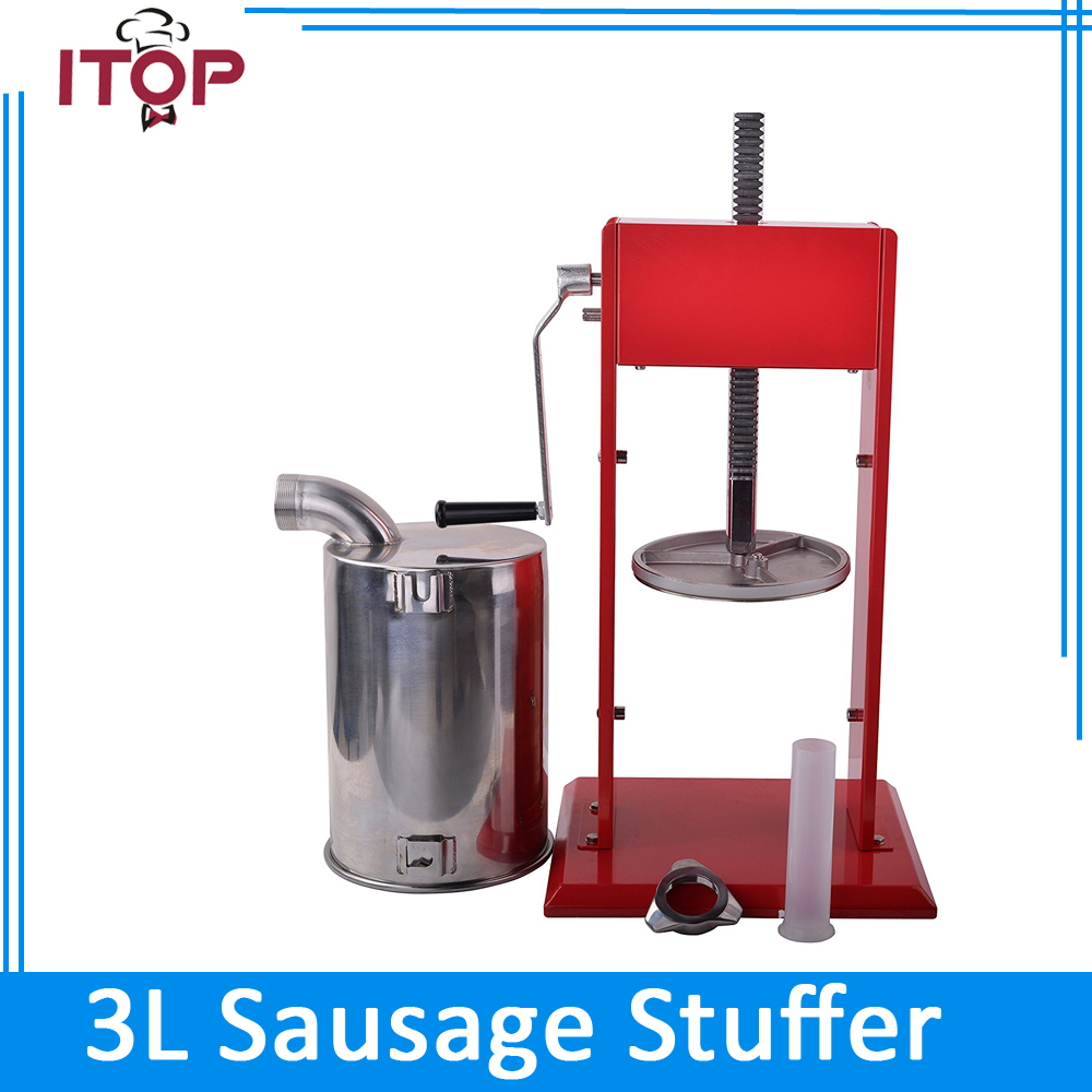 ITOP Manual Meat Sausage Stuffer Stainless steel bowl Spray-paintd Body Sausage Filler Salami Maker Stuffers economic s steel manual s series sausage filler for hotel butcher home use and hunters
