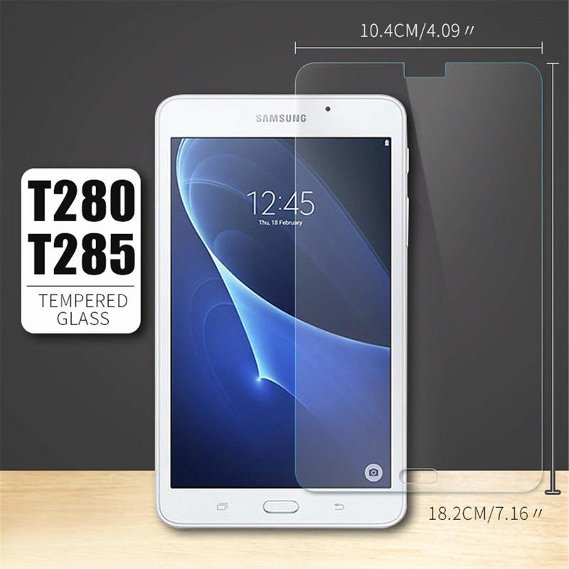 """2x Premium Tempered Glass Screen Protector For Samsung Galaxy Tab A 7/"""" T280 T285"""