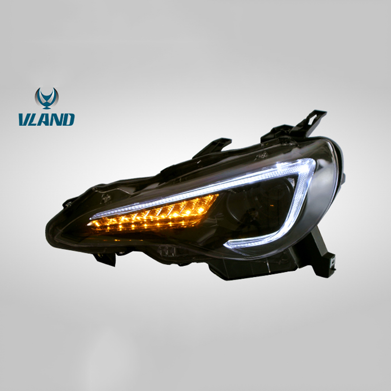 Vland Factory Car Accessories Head Lamp for Toyota GT86 2012-UP&FT86 BRZ 2013-UP LED Head Light with Sequential IndicatorVland Factory Car Accessories Head Lamp for Toyota GT86 2012-UP&FT86 BRZ 2013-UP LED Head Light with Sequential Indicator