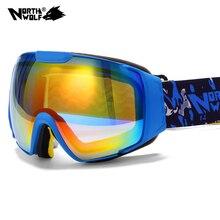 2016 New brand ski goggles double UV400 anti fog big ski mask glasses skiing men women