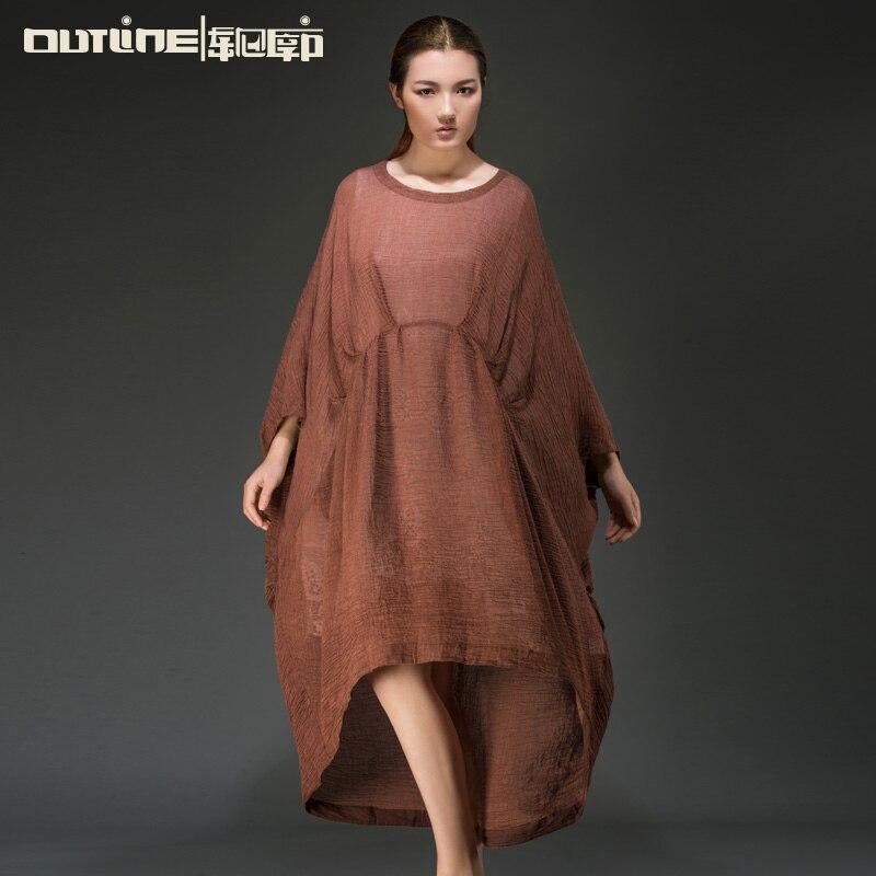 Plus size linen maxi dress - Fashion dresses