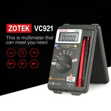 ZOTEK VC921 4000 Counts LCD Digital Multimeter Pocket Auto range DC AC Voltage Ohm Capacitance Diode Continuity Meter Tester unit digital multimeter dc ac voltage current meter handheld ammeter ohm diode capacitance tester 1999 counts multitester ut58e