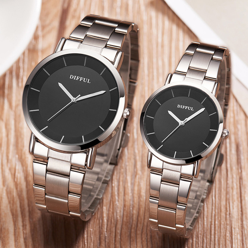 Couple Watches Men and Women New Alloy Sports Business Watch Neutral Casual Quartz Watches Free Shipping Sale(China)