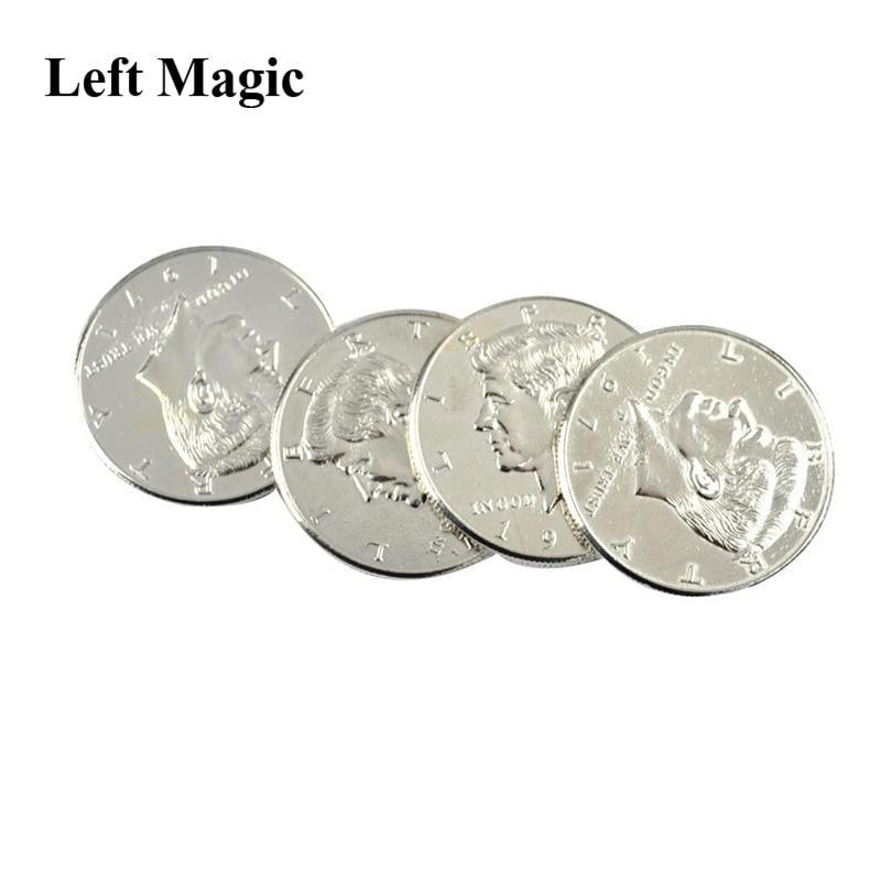 Morgan Flipper Coin Super Flipper Coin Morgan//Half Dollar Coin Magic Tricks Professional Funny Trick for Kids Coin into Bottle Accessories