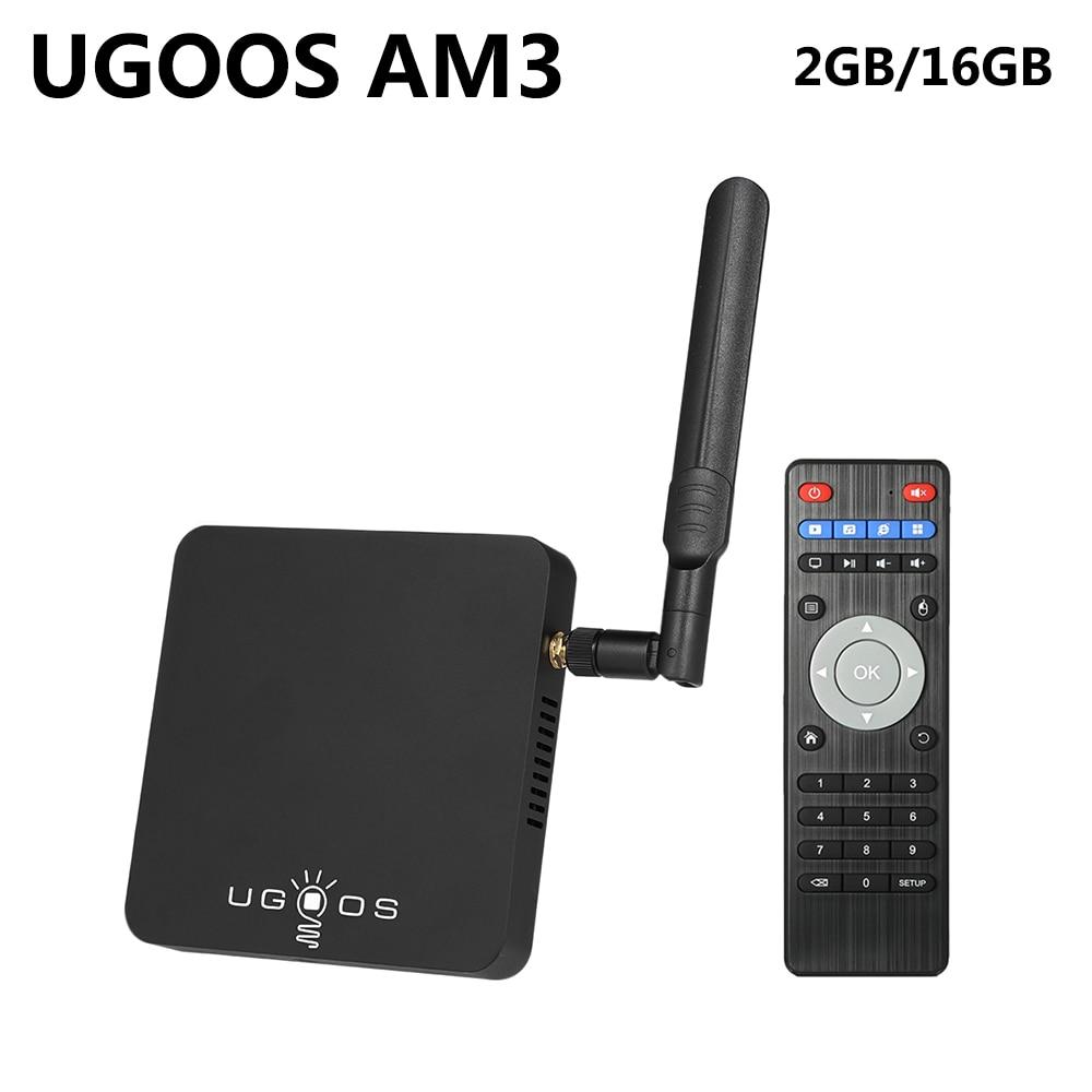 UGOOS AM3 Amlogic S912 Octa Core Smart Android 7.1 TV Box 2GB RAM 16GB ROM 2.4G/5G WiFi 1000M LAN Bluetooth 4K HD Media Player himedia a5 bluetooth 4 0 3d 4k smart android 6 0 tv box 2gb 16gb amlogic s912 network media player 1000m lan hdr10 set top box