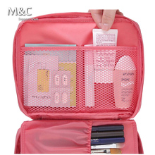 2017 Fashion Make Up Organizer Bag Women Men Casual Travel Bag Multi Functional Cosmetic Bags Storage Bag Makeup HZB-006