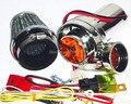 Motocicleta suíte turbocharger elétrico Turbo 500 Para O Motor da motocicleta Da Bicicleta do metal tem cogumelo do filtro de ar