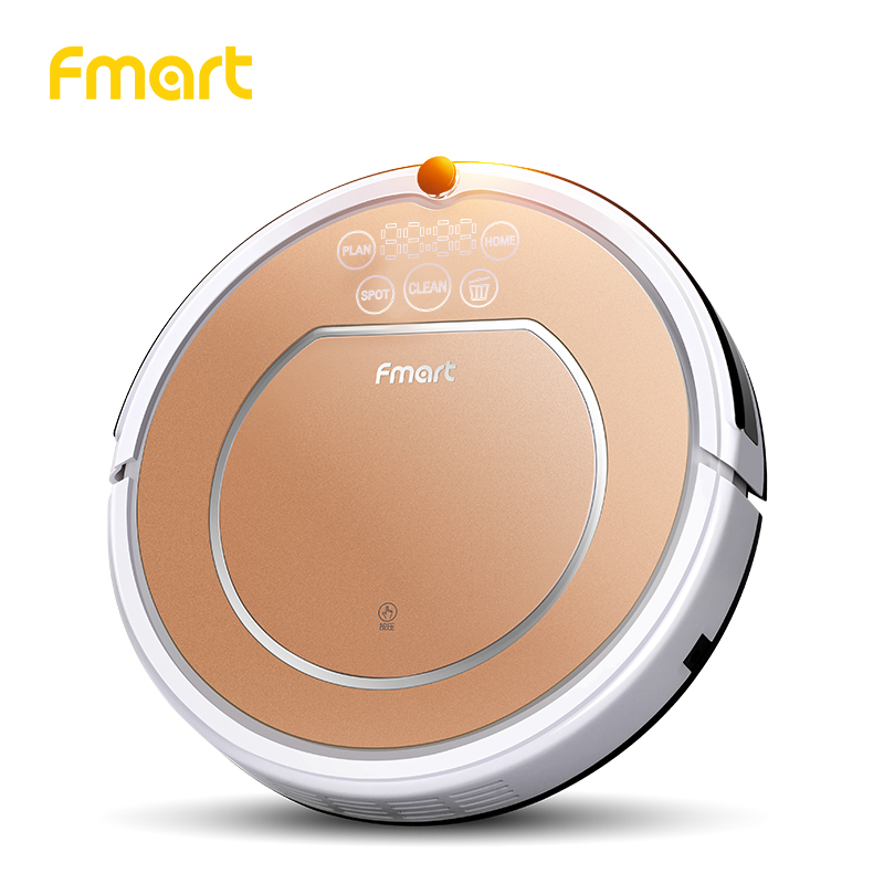 Fmart Robot Aspirador 1000pa Power Suction Vacuum Cleaners Auto Charge for home Dry and Wet Mopping Warehouse Europe E-R302G(S) fmart e r302g умный робот пылесос домашний пылесос