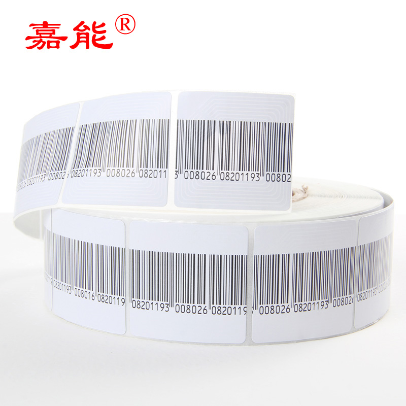 Anti Theft Security Barcode Label Supermarket Anti Theft Security Alarm Label Elegant Shape Discreet Rf 8.2mhz Eas Soft Label 5cmx5cm 1000pcs
