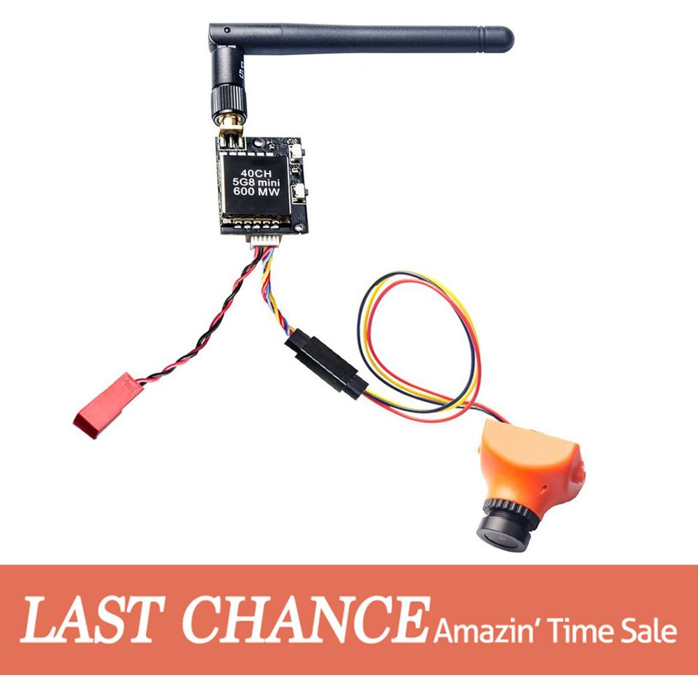 AKK 600mW FPV Transmitter with 600TVL 2 8MM 120 Degree High Picture Quality Sony CCD Camera