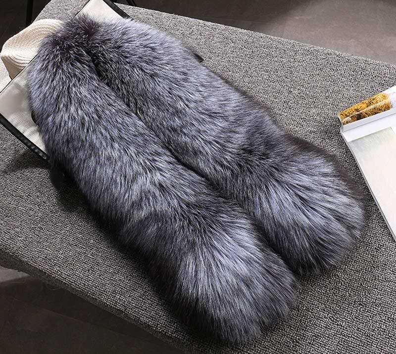 fox skin scarf big fox fur scarf (9)