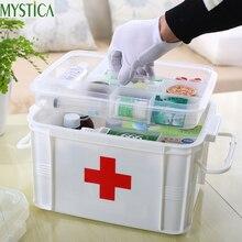 1PCS Multi-layered Large Family First Aid Kit Box Medicine Medical Storage  Plastic Drug Gathering Organizer Boxes