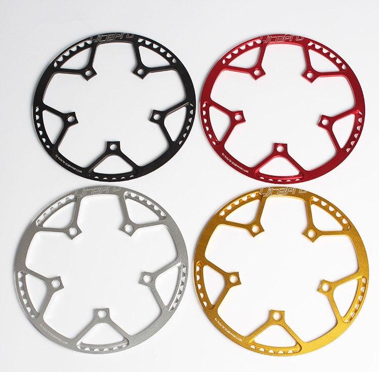 Litepro Dobrar BMX Bicicleta Pequena Bicicleta BCD130 Rodada Prato Único Disco Engrenagem 45 47 53 56 58 T Roda Dentada e Manivela