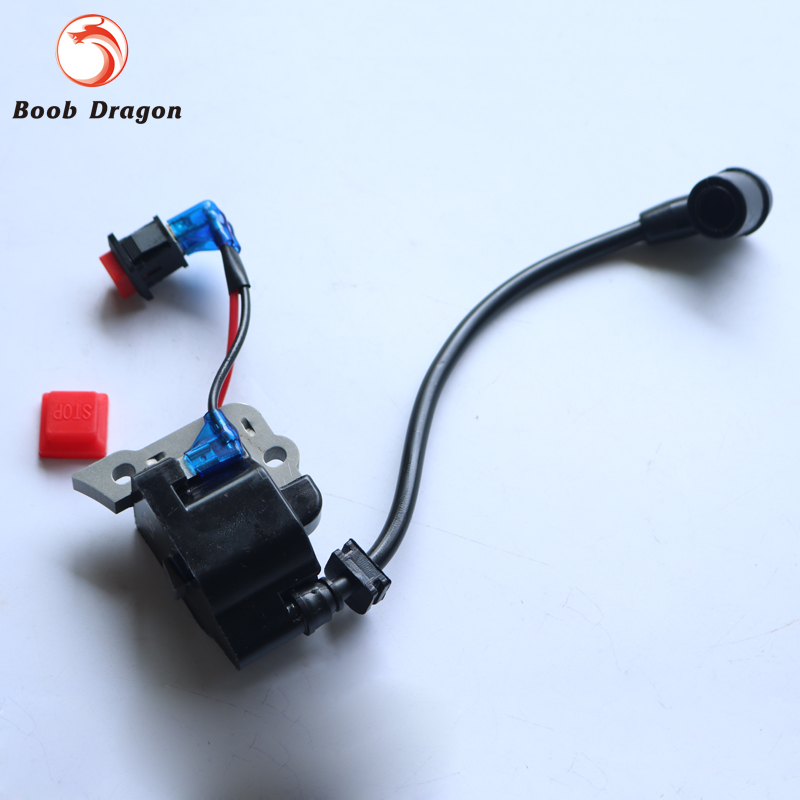 Ignition Coil For Zenoah CY HPI Baja Rovan 1/5 hpi baja 5b parts KM ROVAN Losi 5ive T rovan gas baja 30 5cc 4 bolt chrome engine with walbro carb and ngk spark plug for 1 5 scale hpi km losi rc car parts