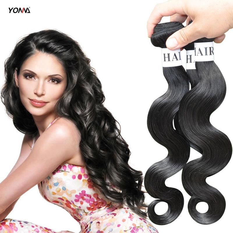 Brazilian Virgin Hair style 3 bundles Body Wave Brazilian Human Hair Weaves Hair extension Natural black 1B# Hair